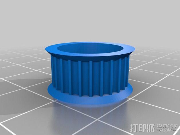 GT2皮带惰轮 3D模型  图2