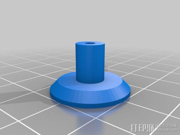 打印床减震器支撑脚 3D模型  图2