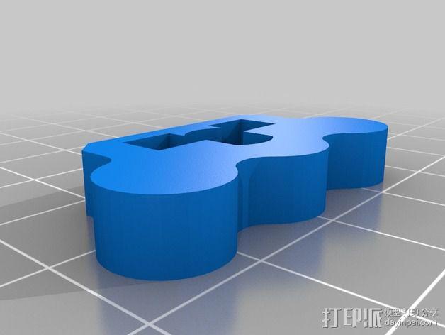 弹簧板 把柄 3D模型  图2