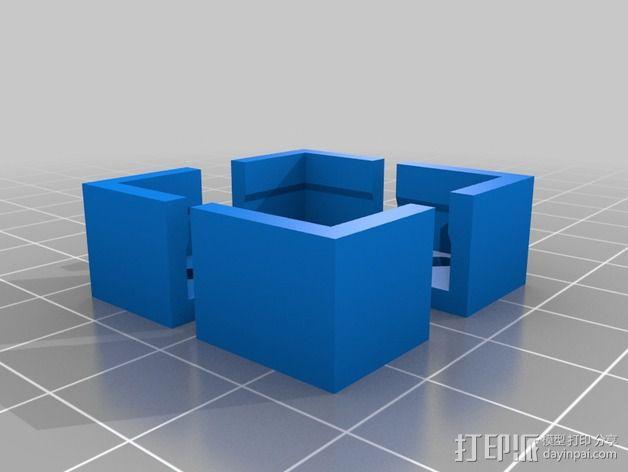 Flashforge/Replicator打印床边角保护器 3D模型  图2