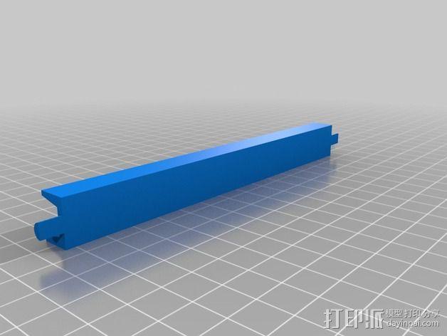 LED光带固定架 3D模型  图3