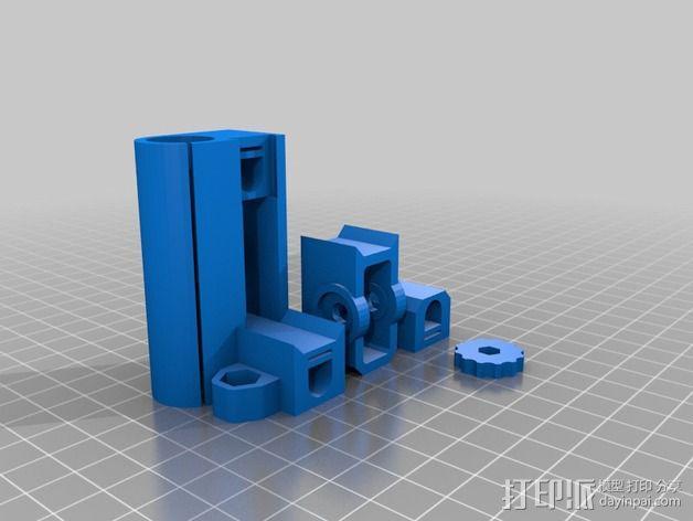 Prusa i3打印机X轴惰轮 皮带张紧器 3D模型  图5