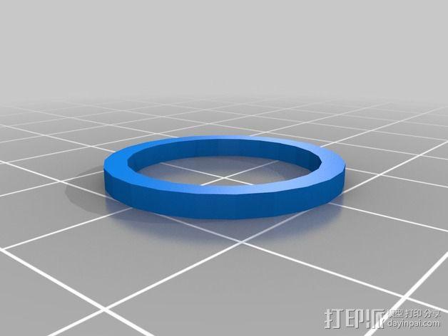 Prusa i3打印机X轴惰轮 皮带张紧器 3D模型  图6