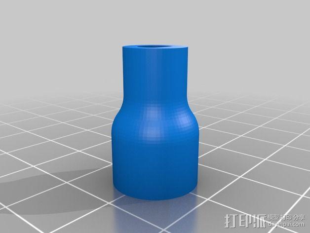 QU-BD打印机Z轴螺杆耦合器 3D模型  图3