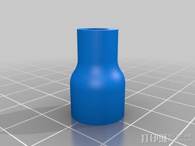 QU-BD打印机Z轴螺杆耦合器 3D模型  图2