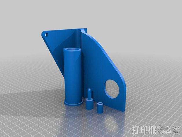 加大版线轴支架 3D模型  图2