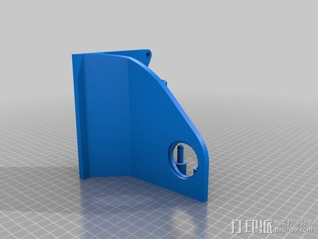 加大版线轴支架 3D模型  图3