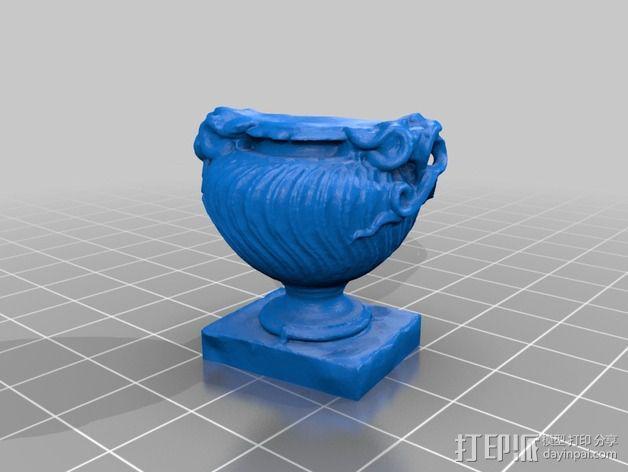 大理石花瓶 3D模型  图2