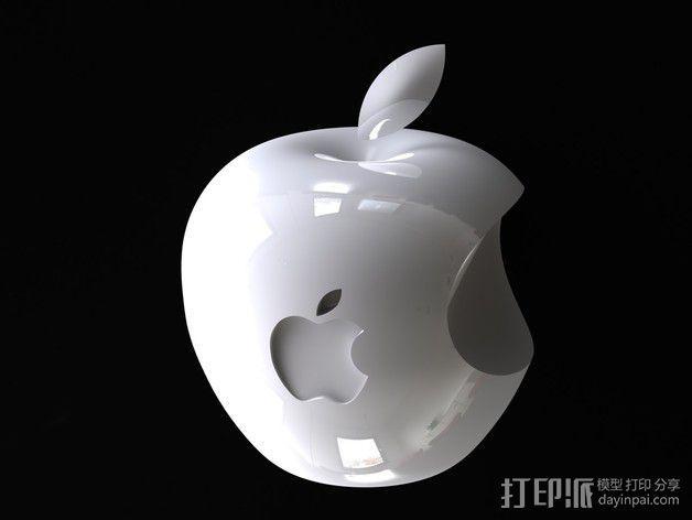 3D 苹果Logo 3D模型  图1