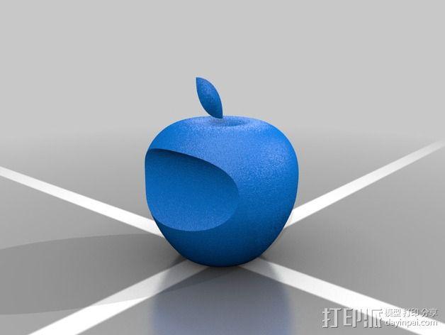 3D 苹果Logo 3D模型  图2