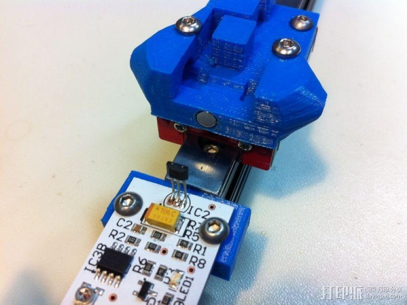 打印机限位开关 感应器支架 3D模型  图1