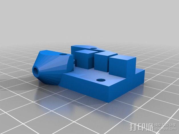 打印机限位开关 感应器支架 3D模型  图3