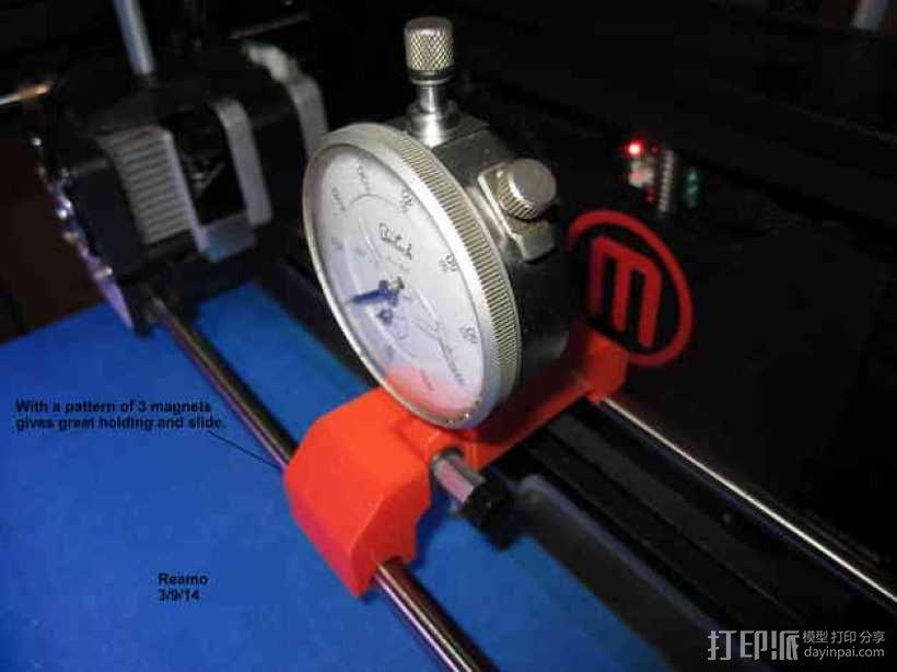MakerBot Replicator 2打印机指示器支架 3D模型  图2