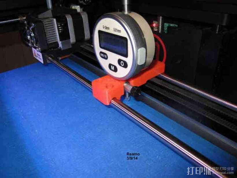 MakerBot Replicator 2打印机指示器支架 3D模型  图4