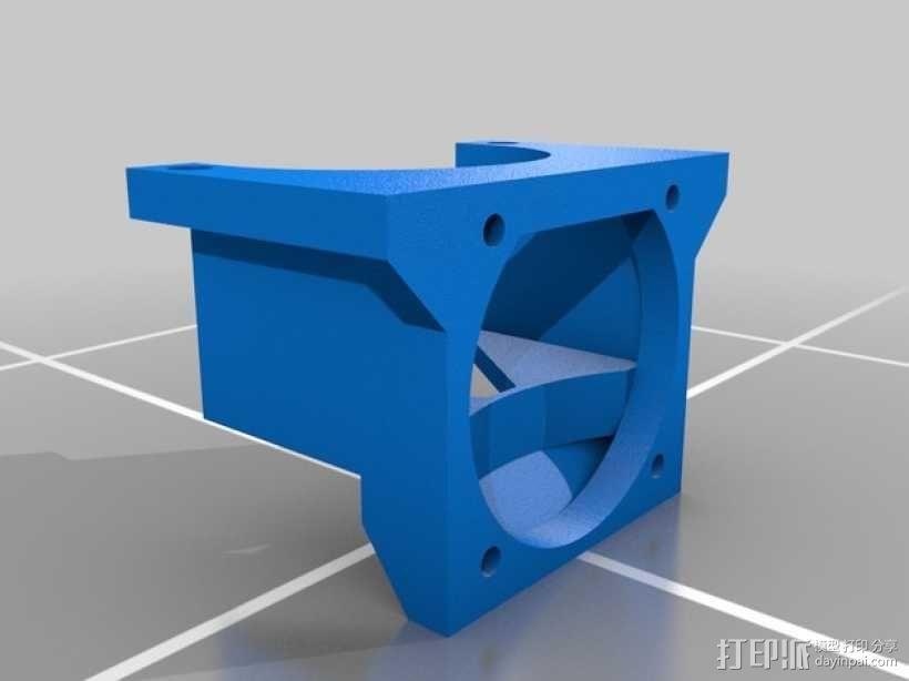 挤出机LED灯环固定架 风扇架 3D模型  图1