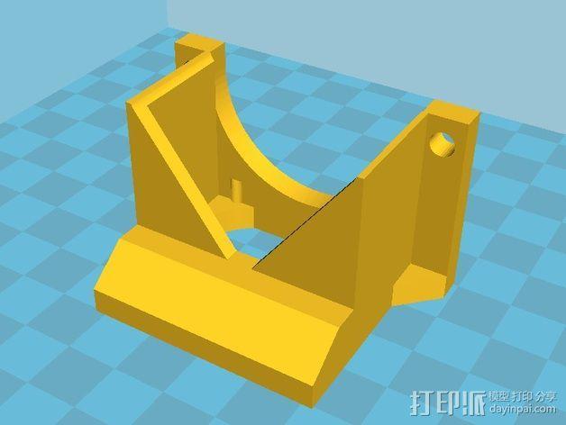 挤出机LED灯环固定架 风扇架 3D模型  图4