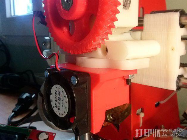 挤出机LED灯环固定架 风扇架 3D模型  图5