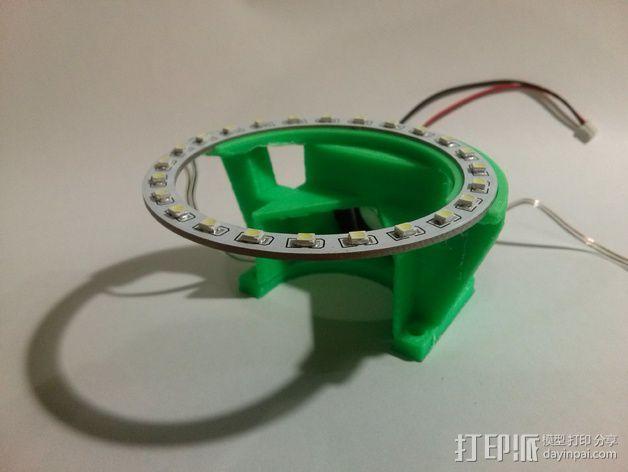 挤出机LED灯环固定架 风扇架 3D模型  图7