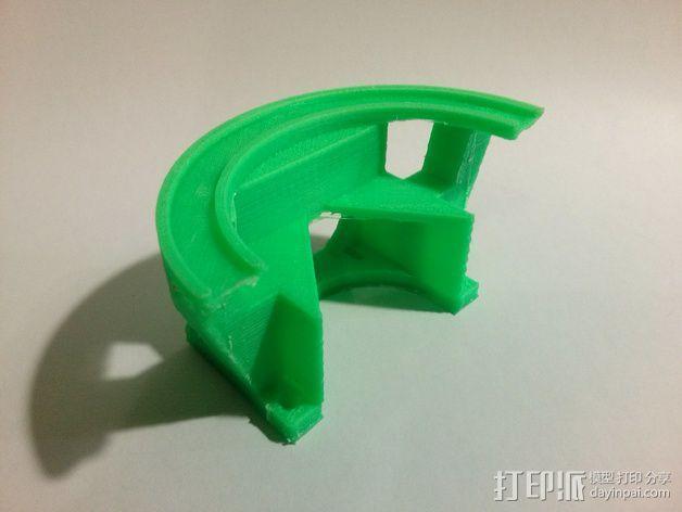 挤出机LED灯环固定架 风扇架 3D模型  图9