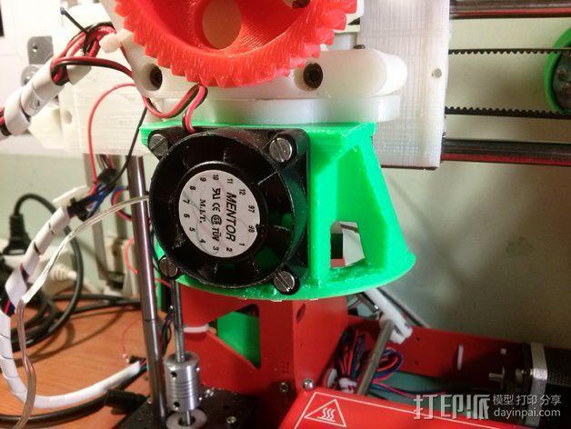 挤出机LED灯环固定架 风扇架 3D模型  图12