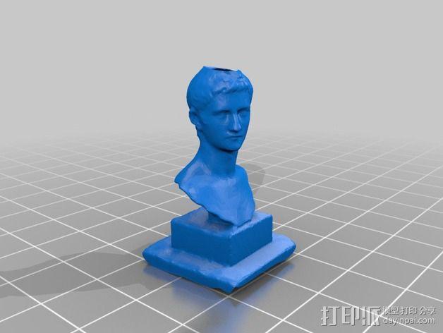 卡利古拉大理石雕塑 3D模型  图2