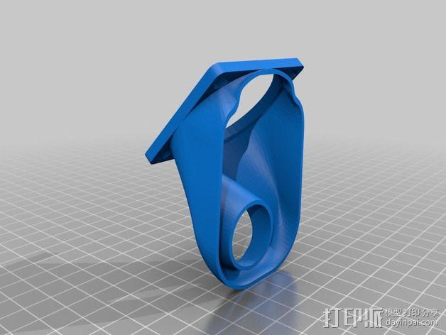 MakerGear M2 挤出机风扇支架 风扇通风导管 3D模型  图2