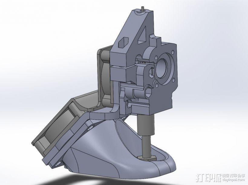 MakerGear M2 挤出机风扇支架 风扇通风导管 3D模型  图1