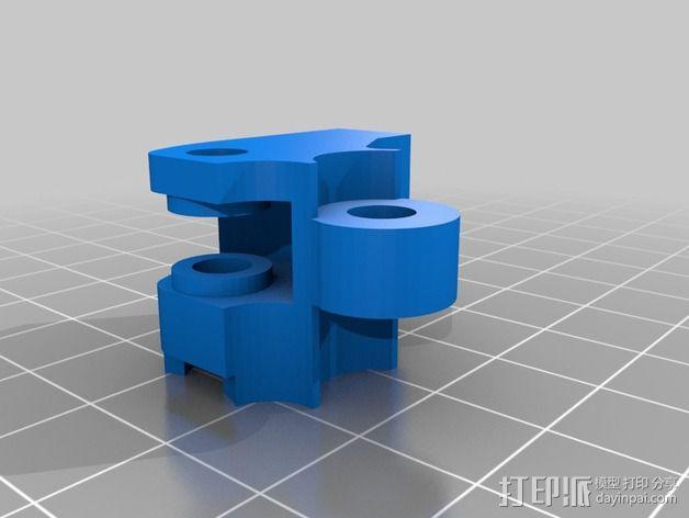 MakerGear M2 挤出机风扇支架 风扇通风导管 3D模型  图5