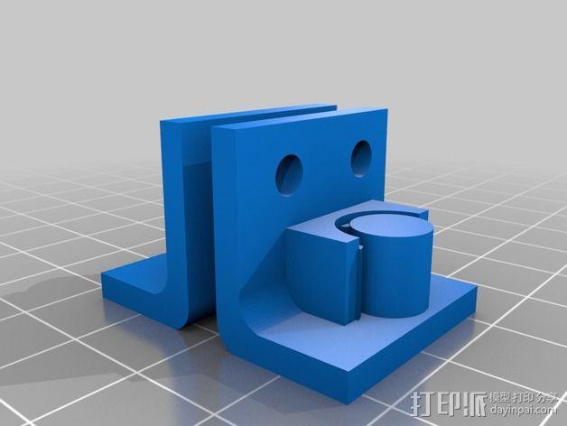 打印机Y轴皮带夹 3D模型  图2