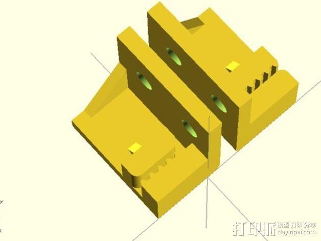 打印机Y轴皮带夹 3D模型  图4