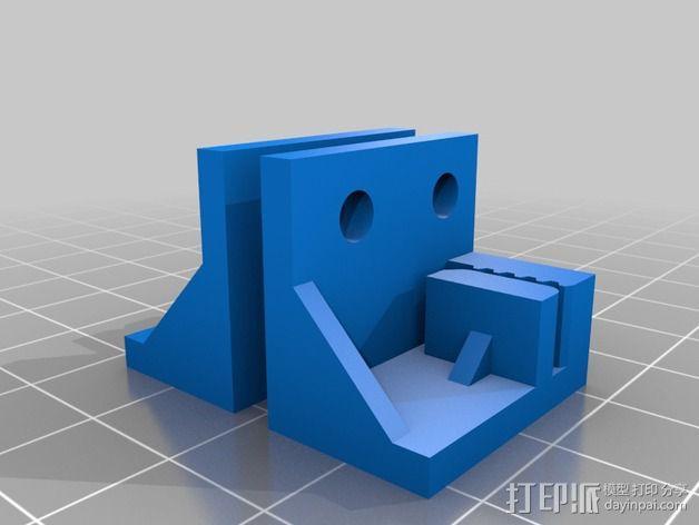 打印机Y轴皮带夹 3D模型  图3