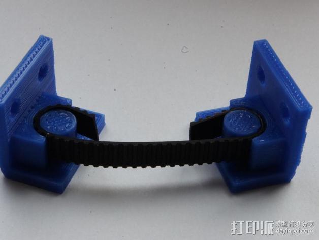 打印机Y轴皮带夹 3D模型  图5