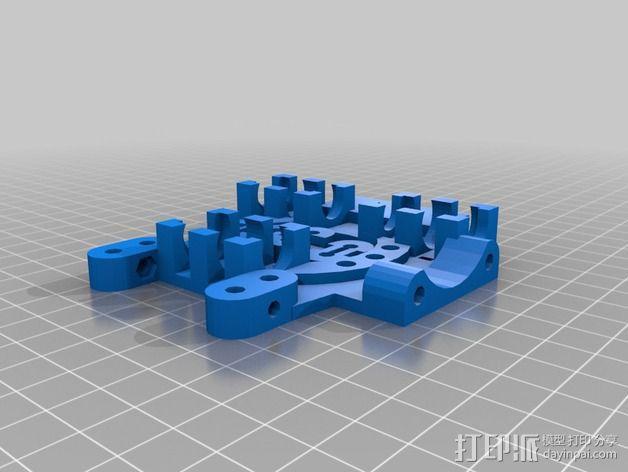 打印机X轴自动调平器支架 3D模型  图2
