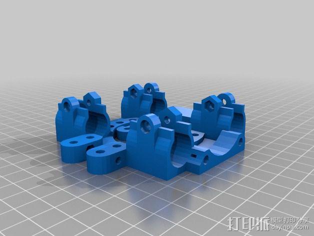 打印机X轴自动调平器支架 3D模型  图3