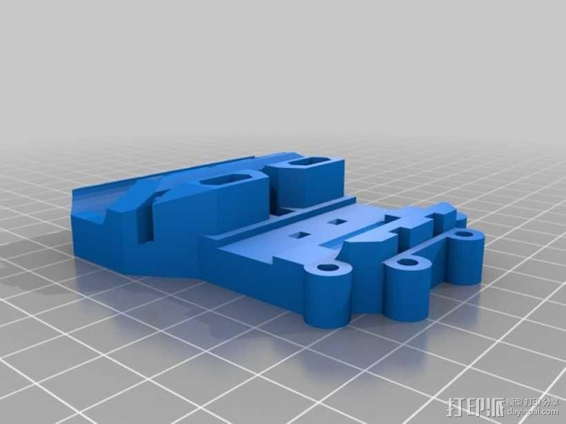 Prusa i3打印机X轴部件 3D模型  图1