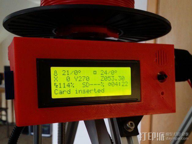 智能控制器显示屏支架 3D模型  图2
