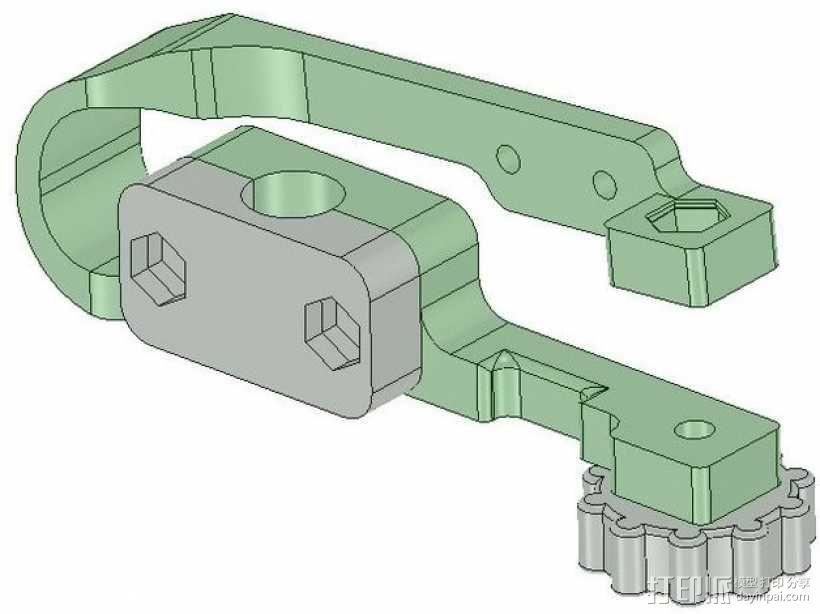 MendelMax 打印机Z轴限位开关 3D模型  图1