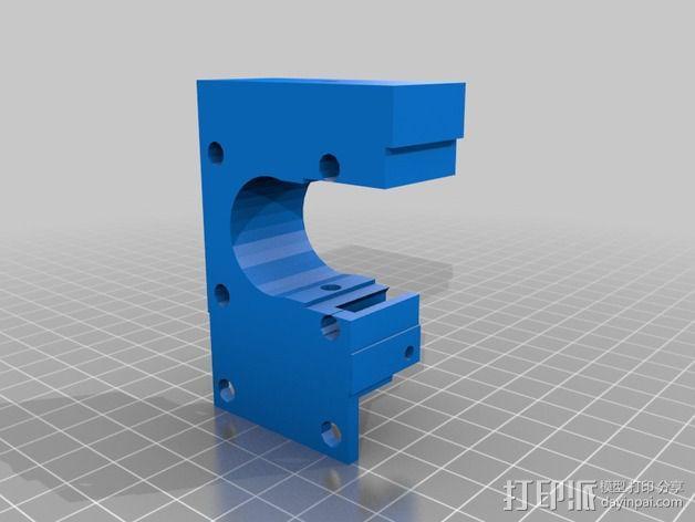 挤出机固定夹 3D模型  图2