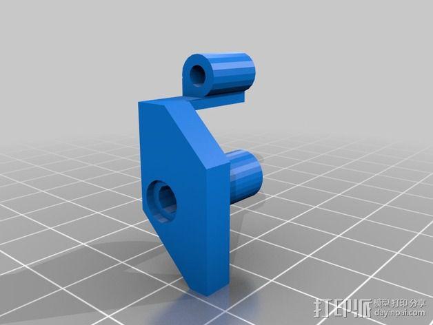 挤出机固定夹 3D模型  图5
