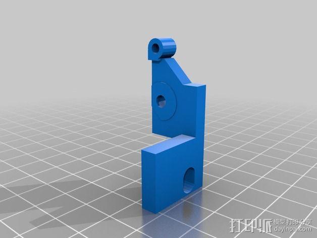 挤出机固定夹 3D模型  图6