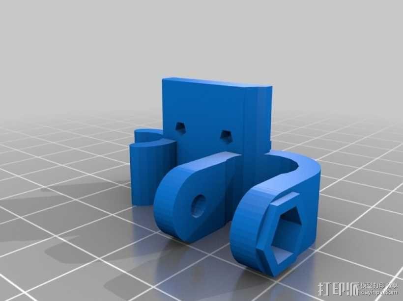 Y轴限位开关支架 3D模型  图4