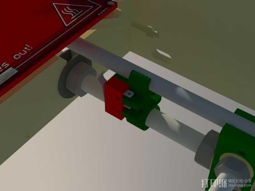Y轴限位开关支架 3D模型  图3
