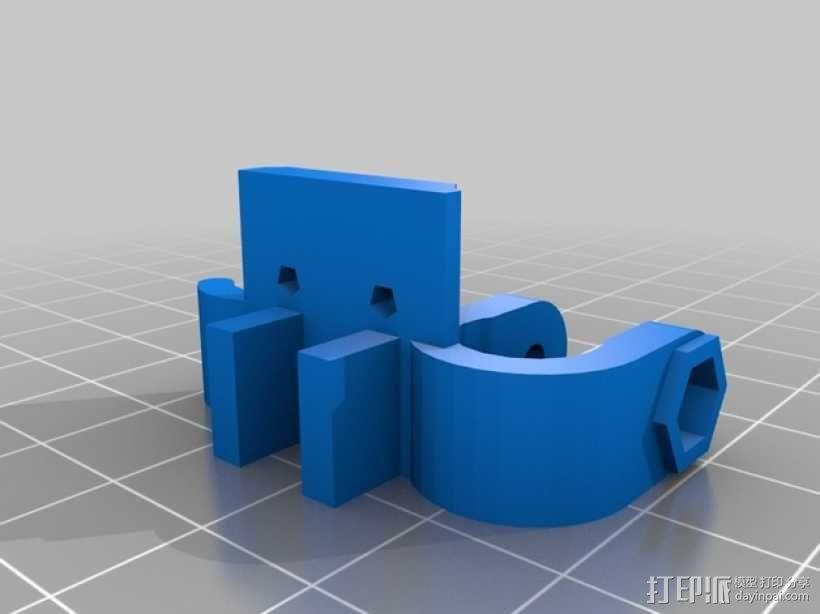 Y轴限位开关支架 3D模型  图5
