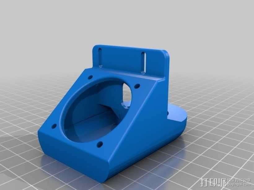 J-Head式喷头风扇导管 3D模型  图1