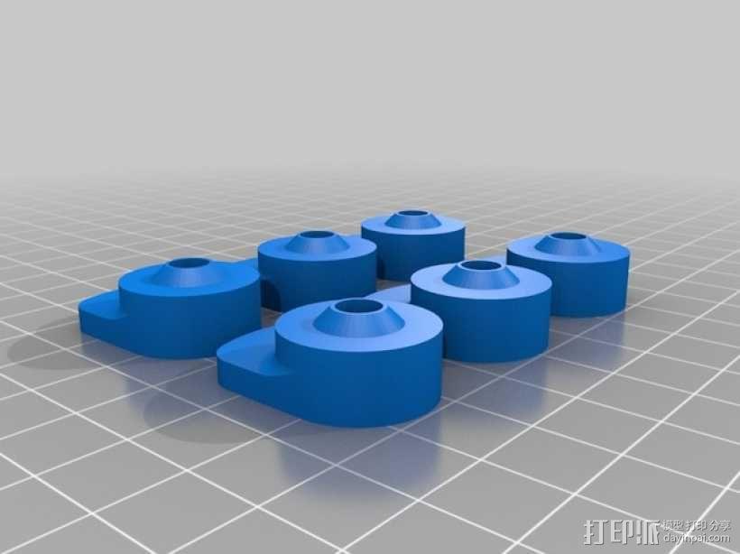 打印机玻璃板固定器 3D模型  图4