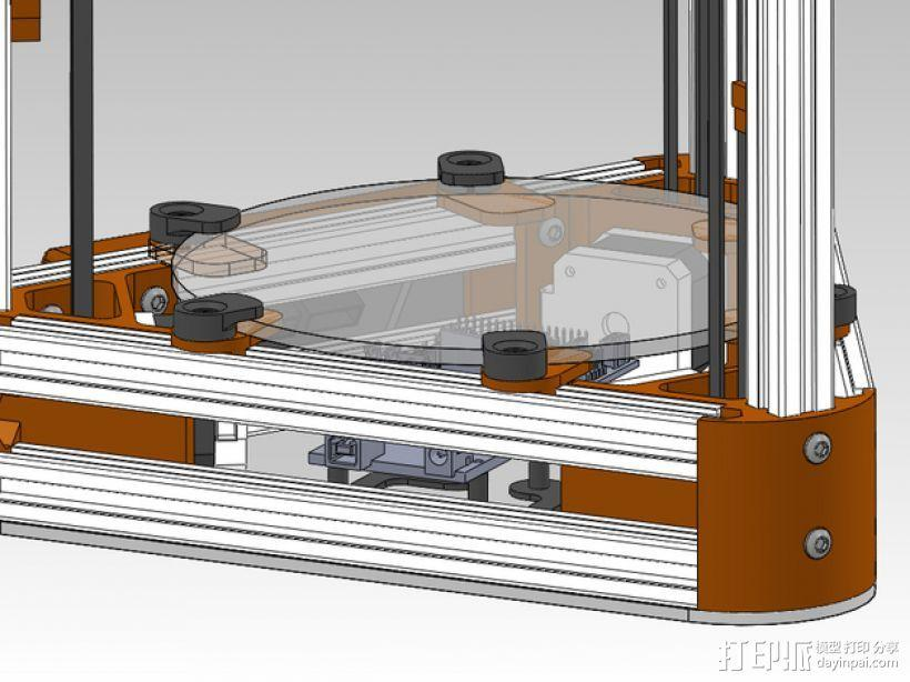 打印机玻璃板固定器 3D模型  图1