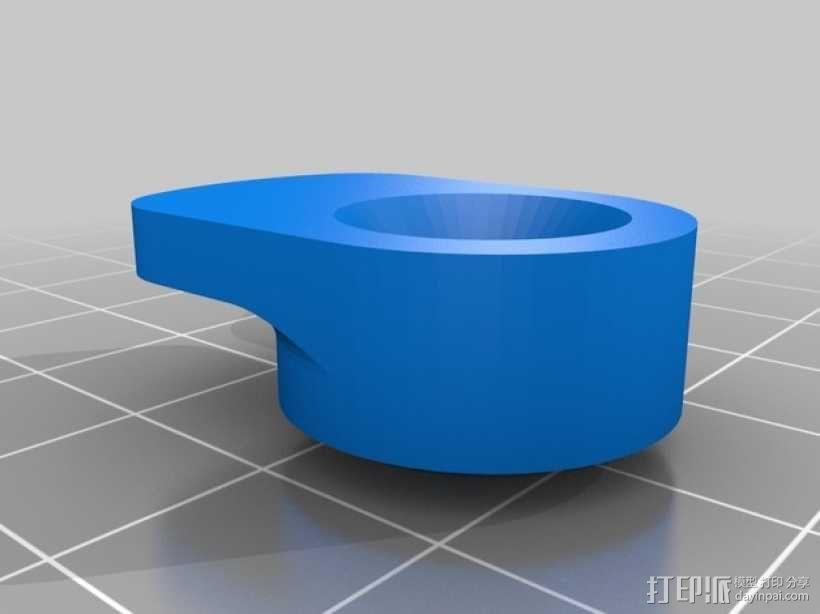 打印机玻璃板固定器 3D模型  图3