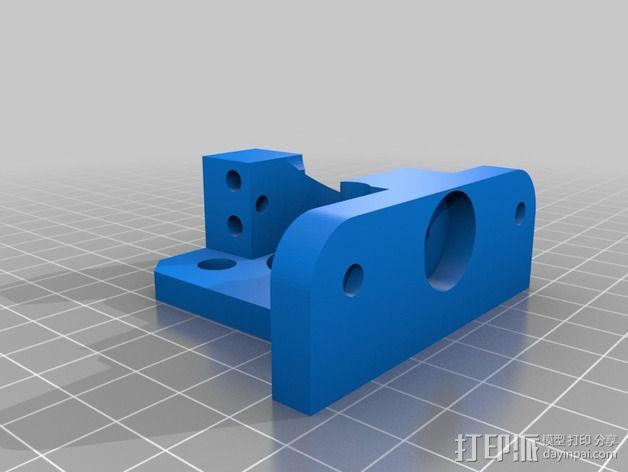 直线驱动挤出机 3D模型  图3
