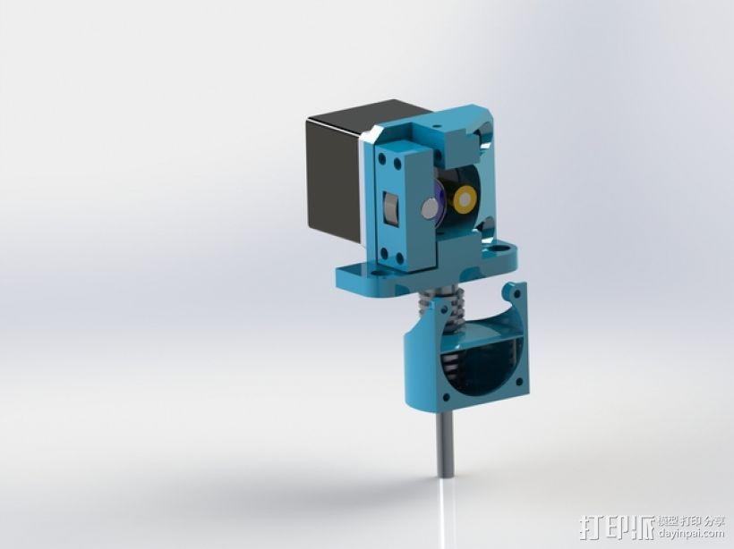 直线驱动挤出机 3D模型  图1