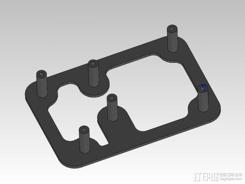 ramps 1.4 电路板安装支架 3D模型  图1